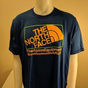 North Face L Blue Short Sleeve T shirt